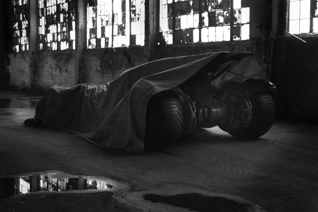 A tease posted to Zack Snyder's Twitter account showing the Batmobile's posterior. (Courtesy Zack Snyder)