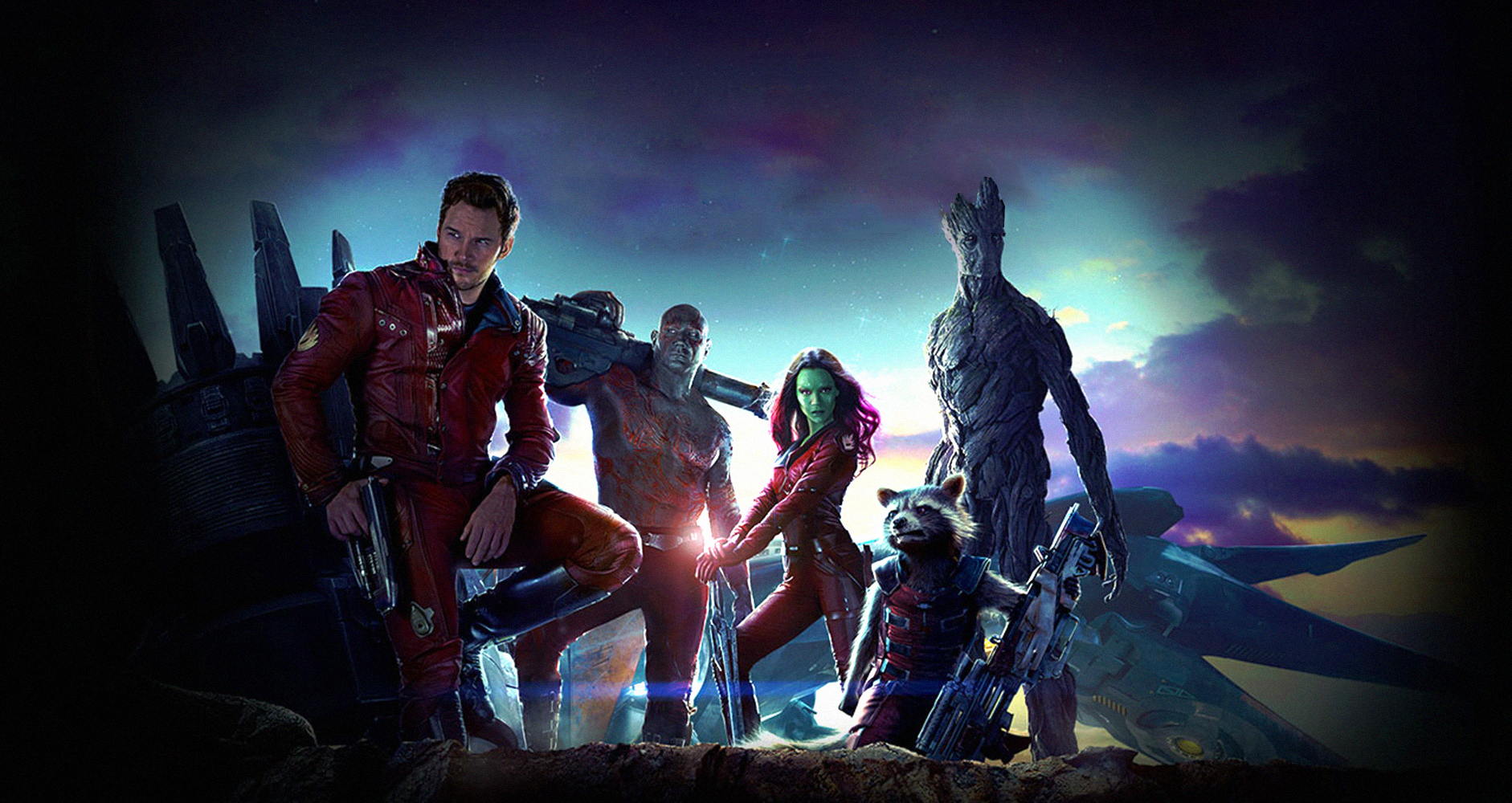 """What a bunch of a-holes..."" The Guardians of the Galaxy are ready to save the universe. (Courtesy Marvel)"