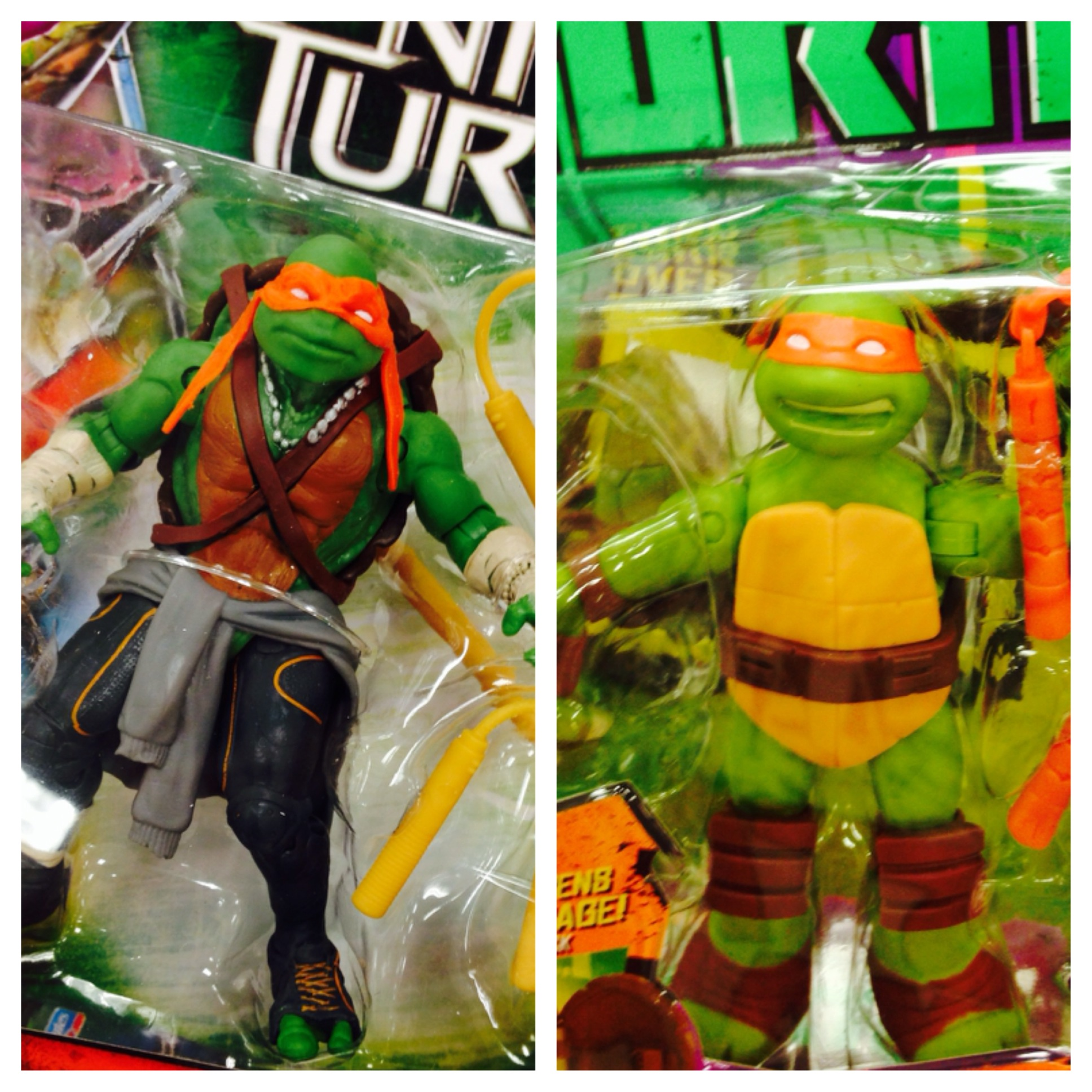 Michelangelo and his Dr. Rockso counterpart.