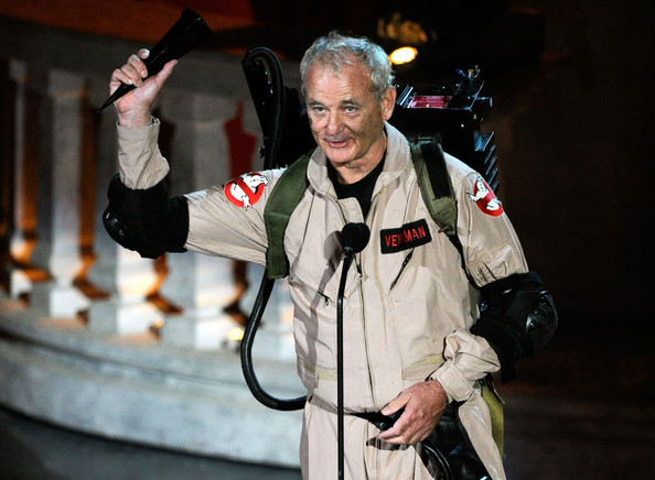 Bill Murray appears to accept an award at the Spike Scream Awards in 2010... proving he's still got it.