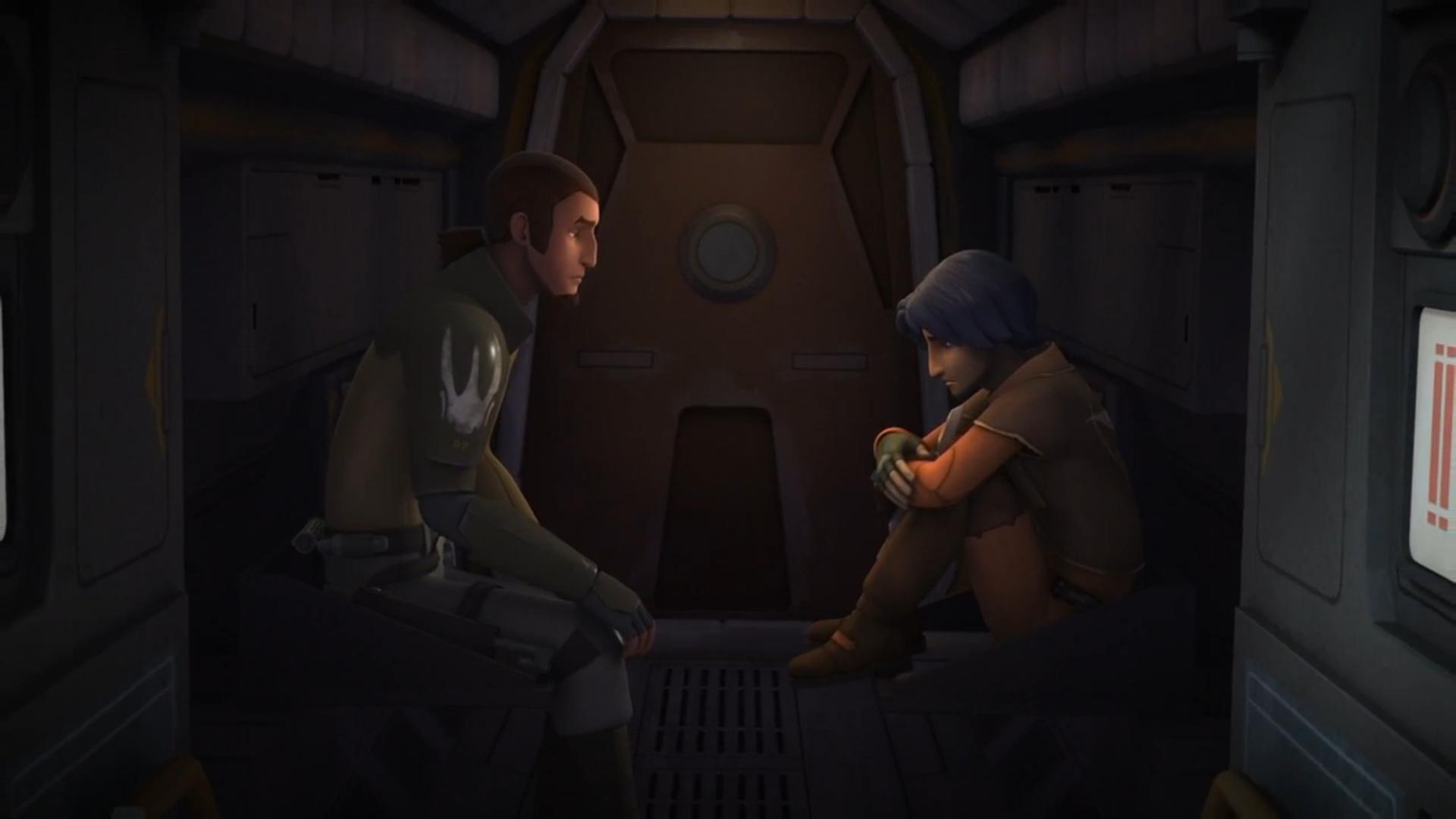 Obi-Wan and his on the edge of giving into hatredPadawan Learner Anakin... wait... just kidding, that's Kadan and Ezra from Rebels. JK.