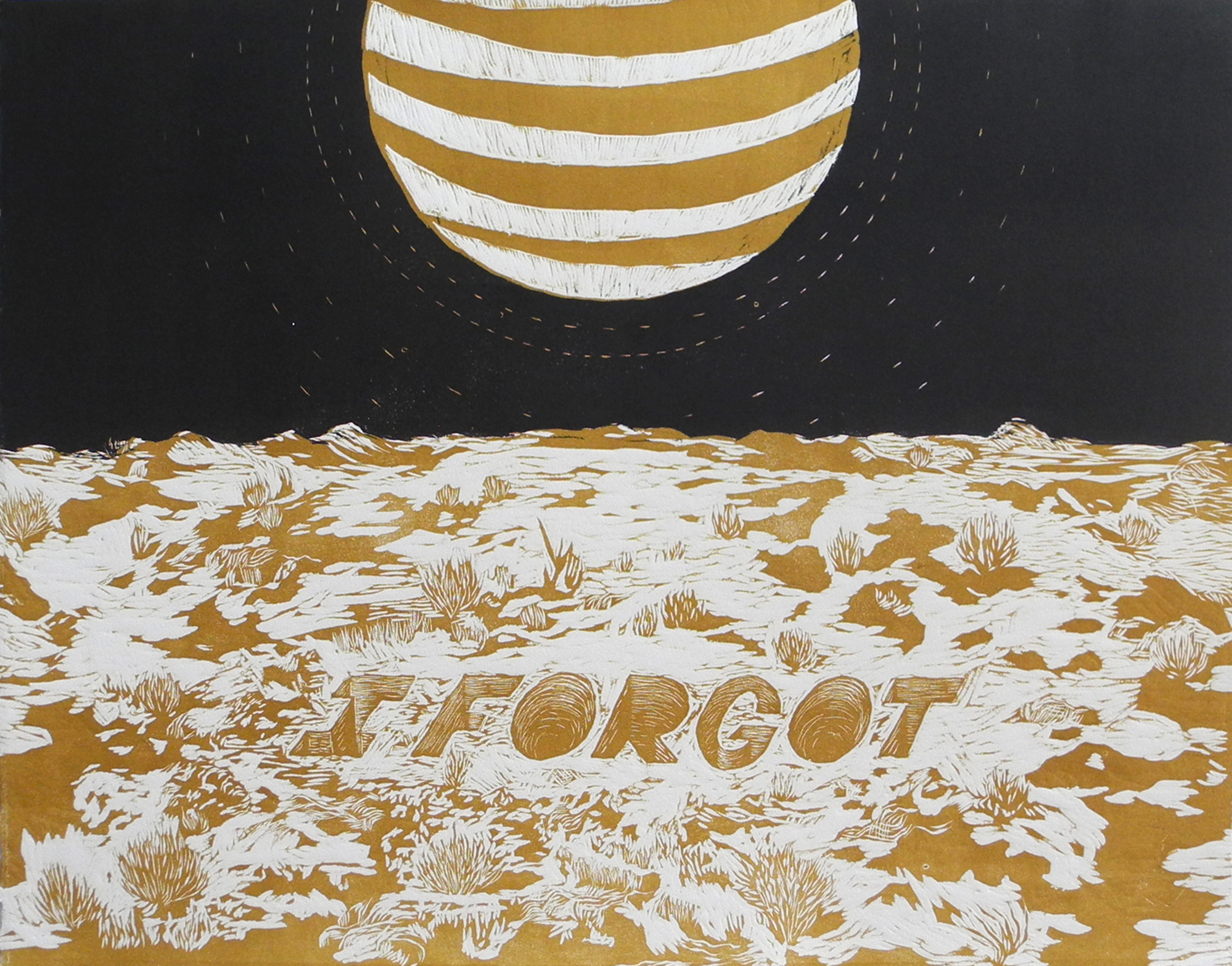 I Forgot, 2015 Reduction Woodcut Click the image above to see more new work.