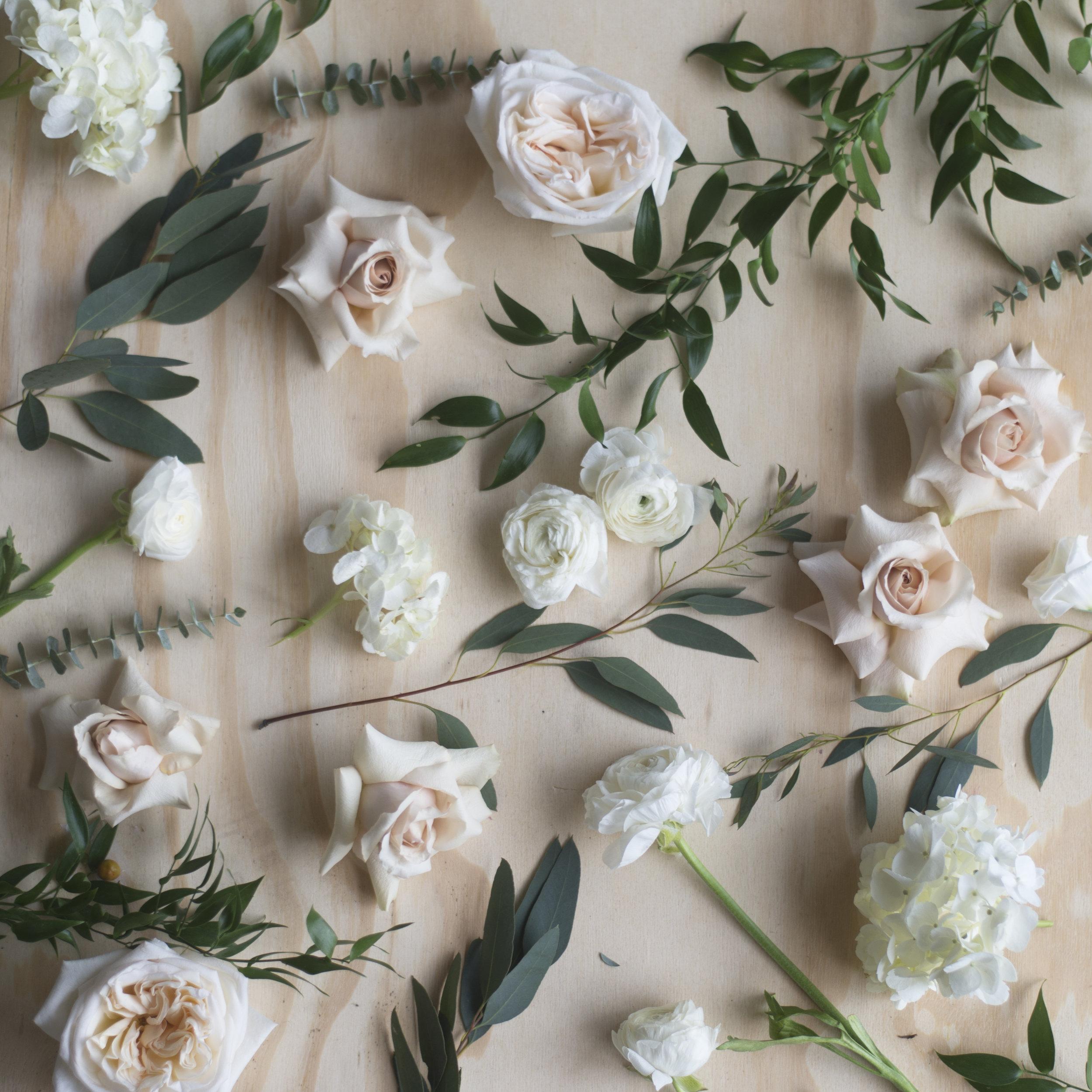 Wedding Flower Colour Pallet