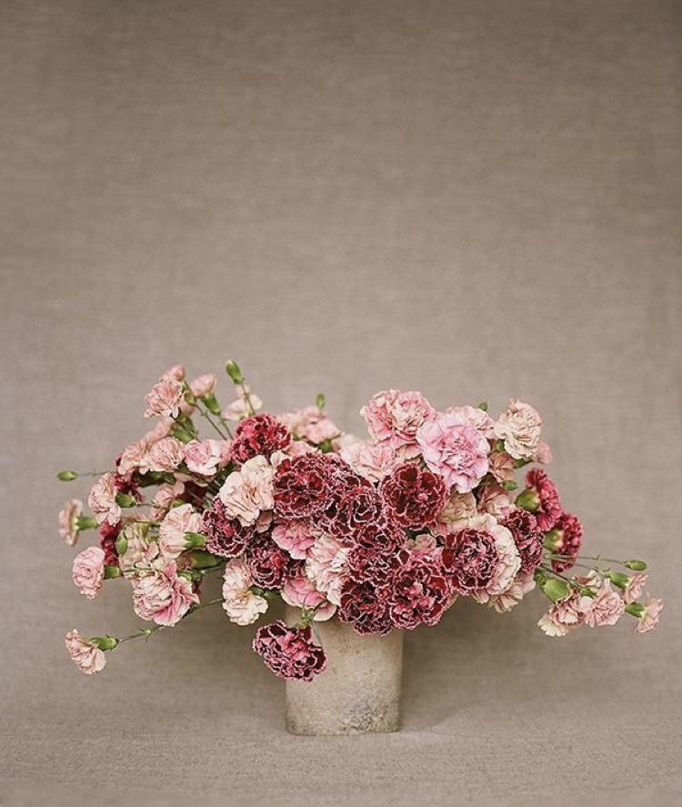 carnation vased arrangement