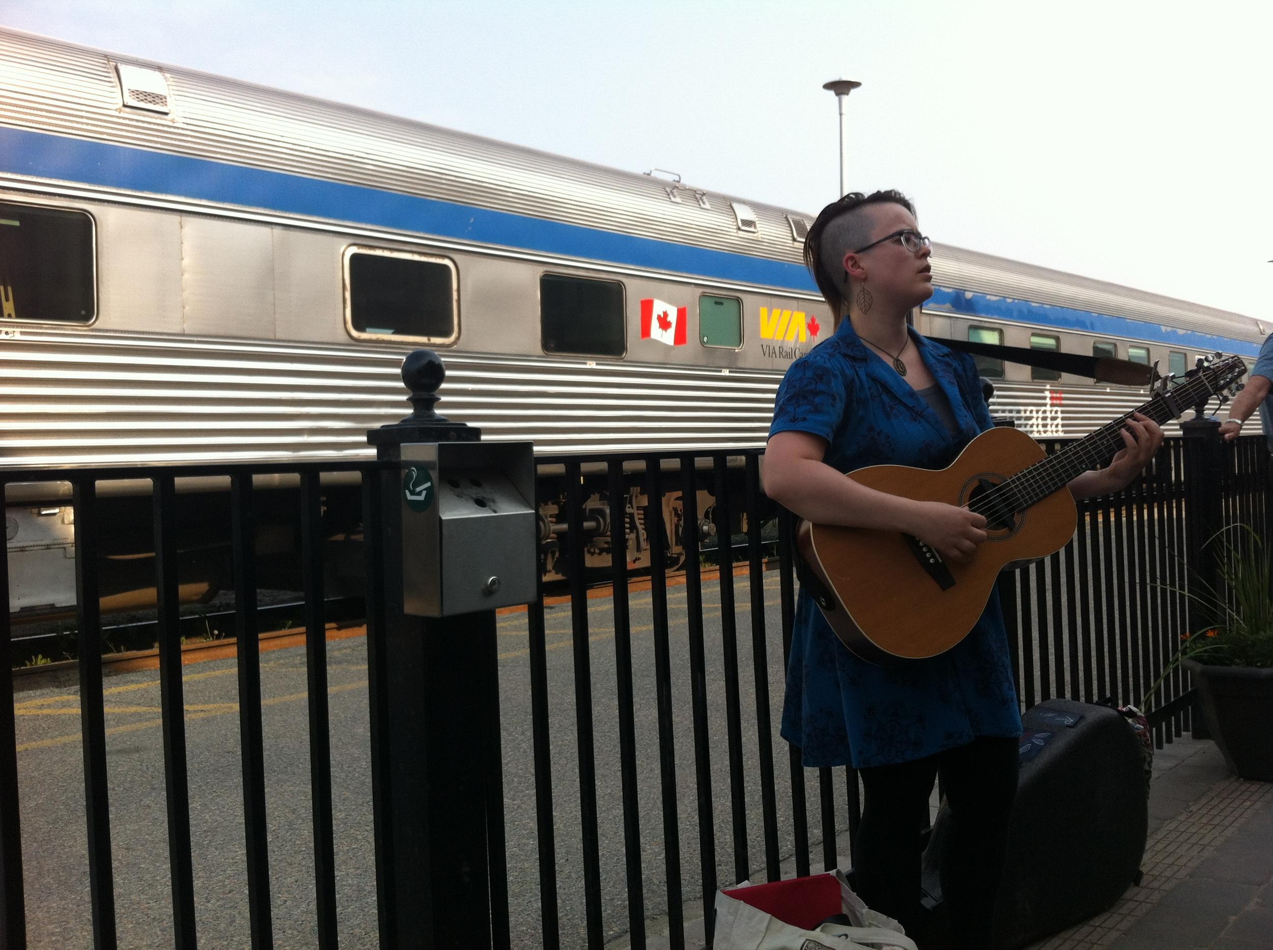 A station stop in Jasper :)