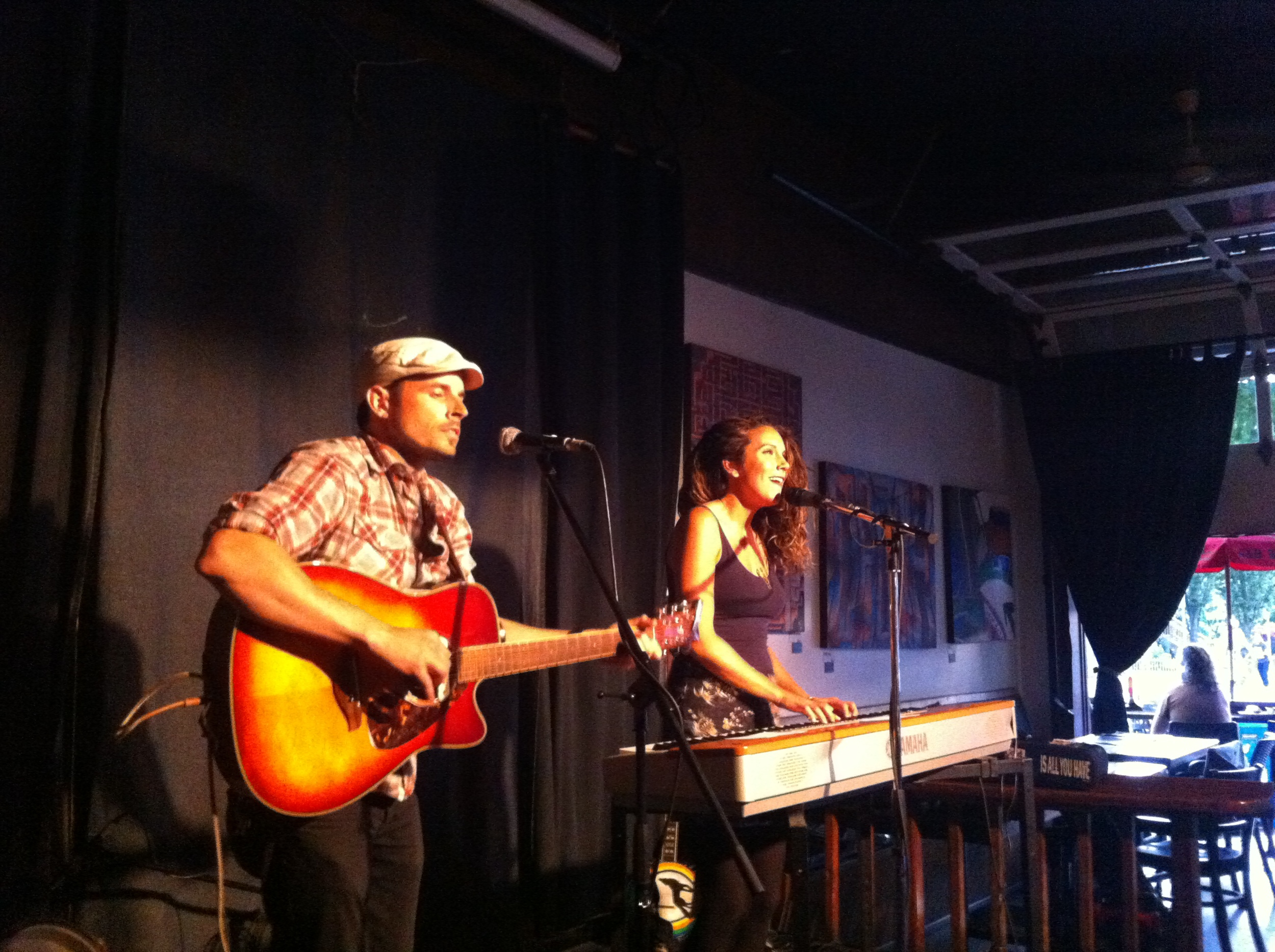 The fantastic Brittany Willacy and Patrick Spencer!  - Cafe Deux Soleils, Vancouver BC
