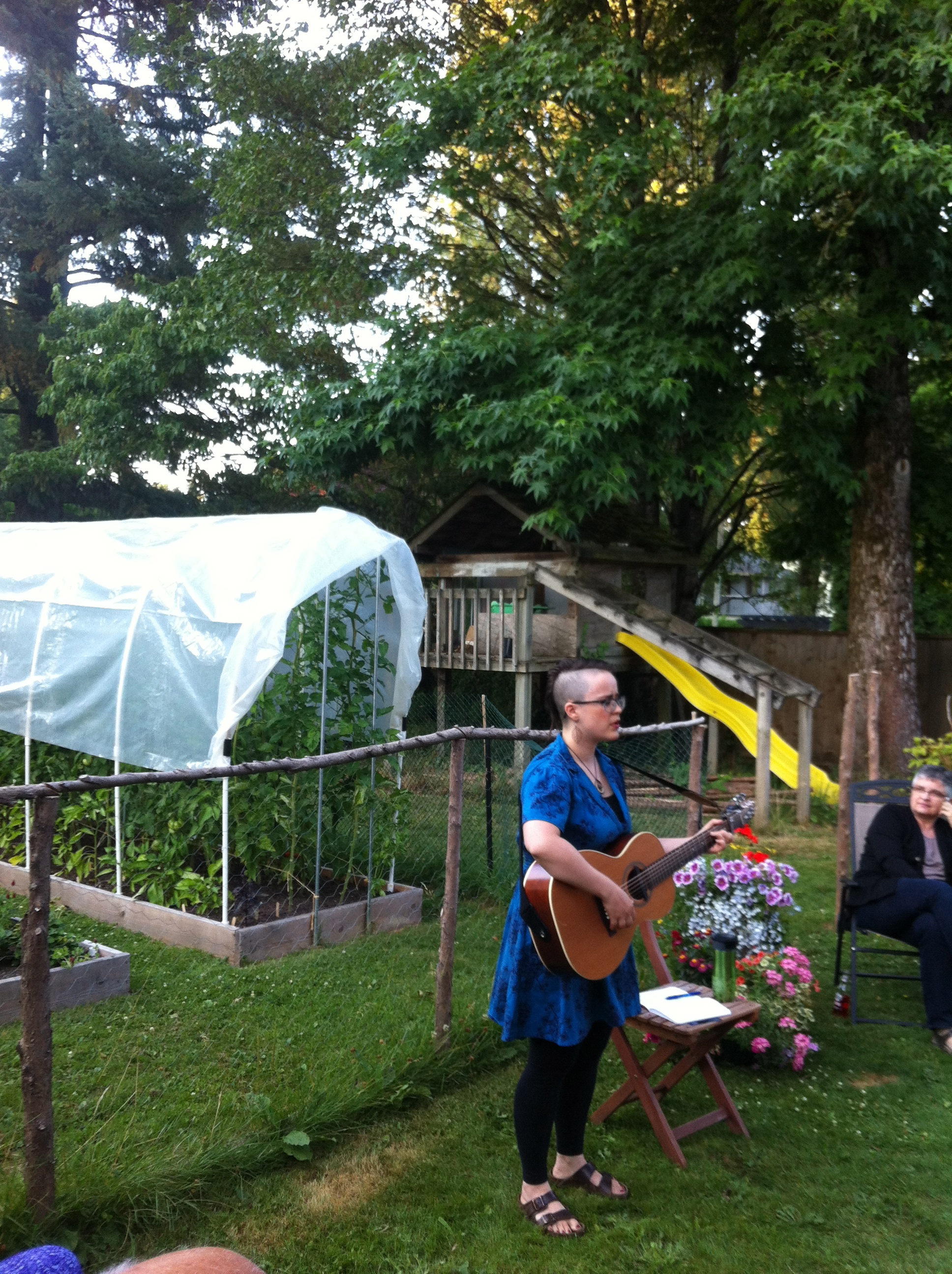 Garden party! What fun to sing in a garden!!!    Thanks to the kind and awesome hosts!  - Abbotsford, BC