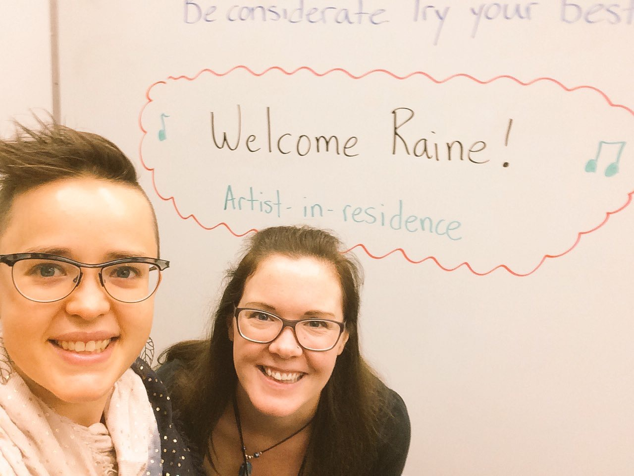 Welcome Raine! My first AIS program at Elwick School :)