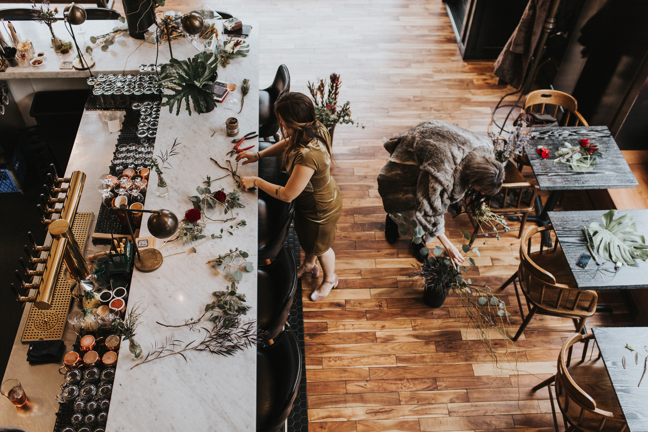 Edgy Wedding Reception The Good Bar Seattle Photographer