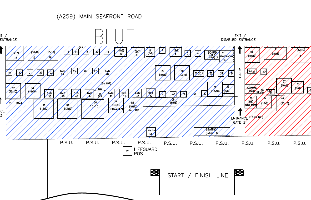 Paddle Round the Pier 2014 Map