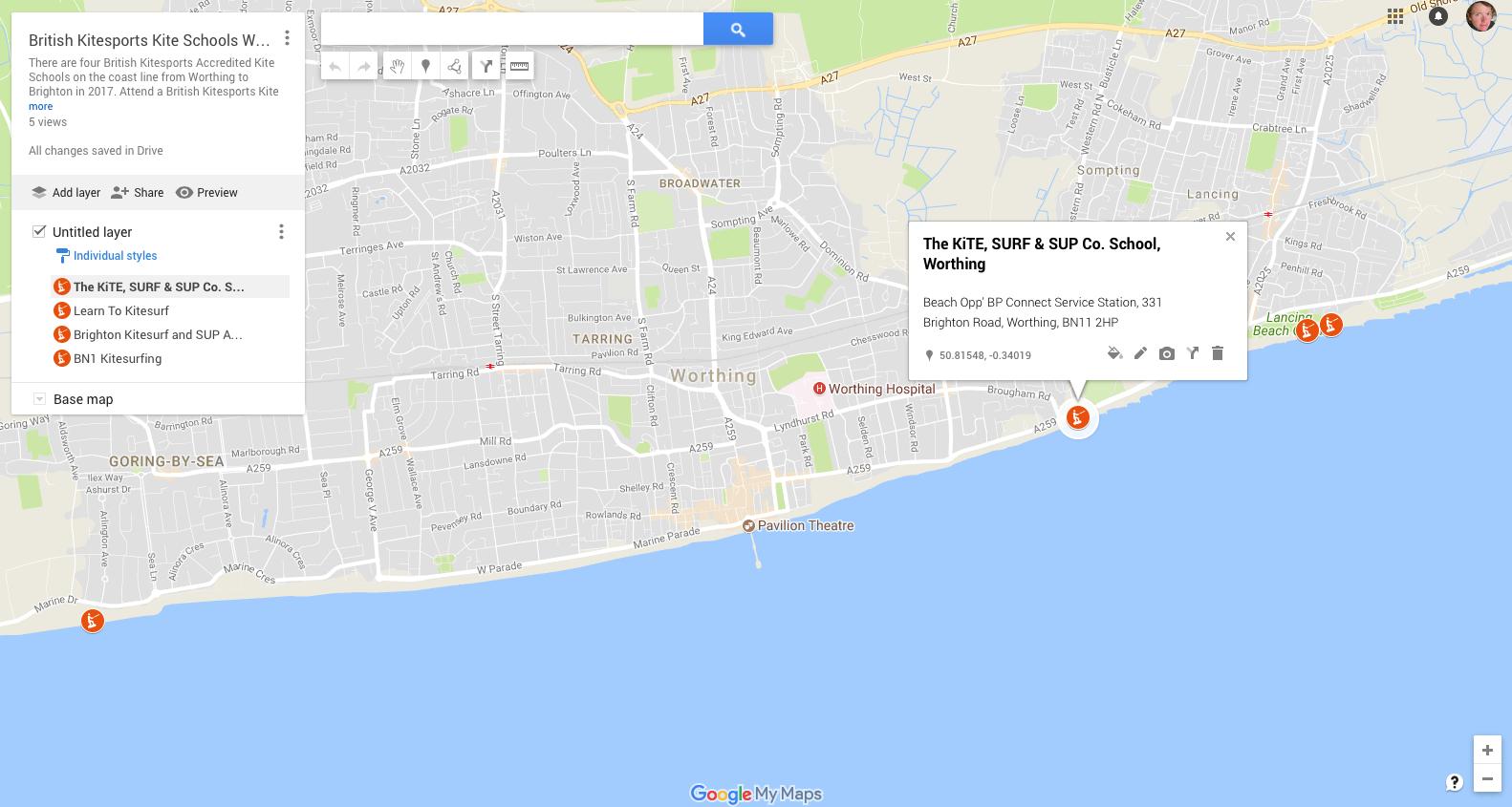 British Kitesports Kite School Brighton to Worthing