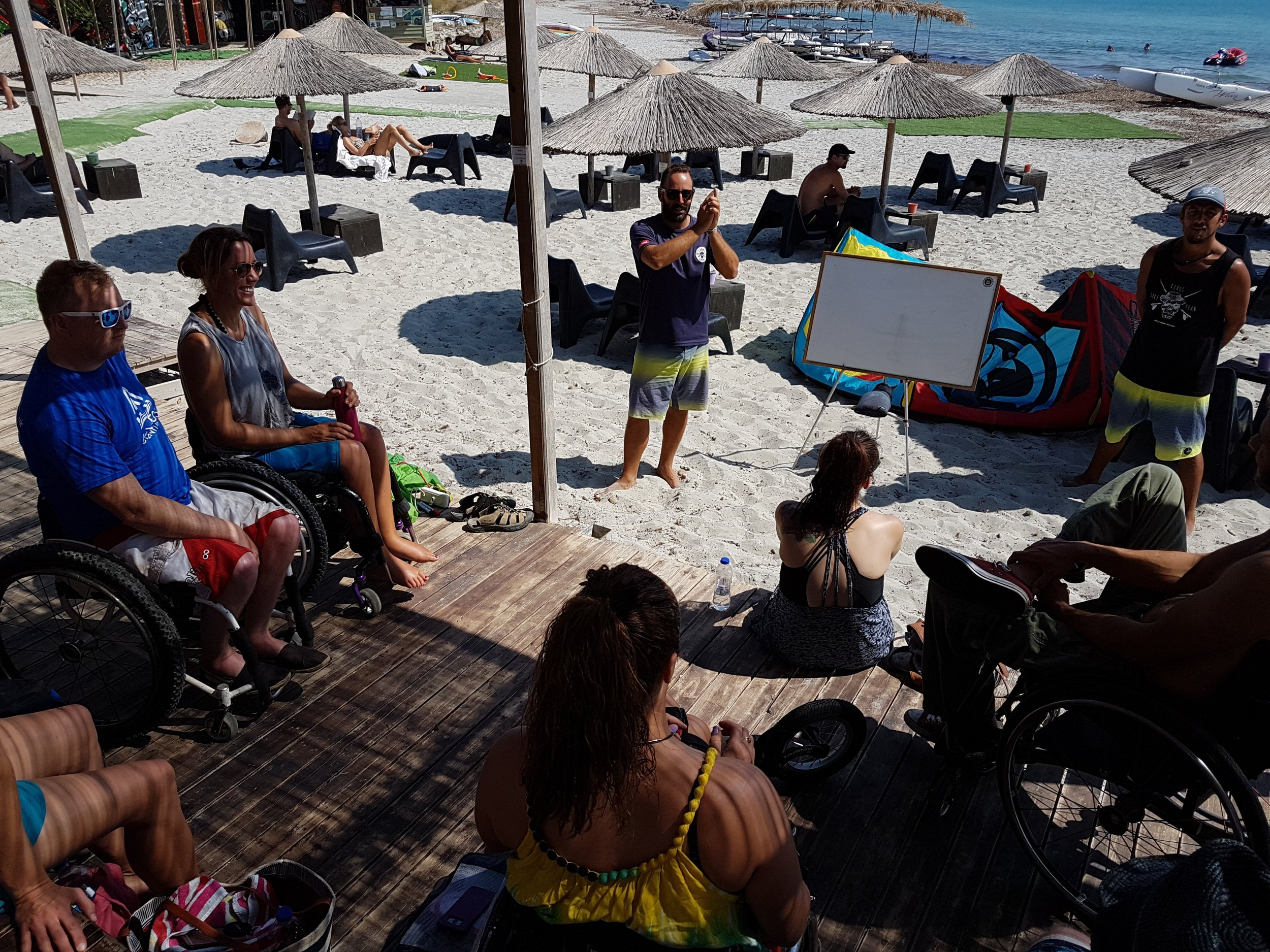 Surf Club Keros Head Instructor, Coulis, Giving The Briefing - Day 1