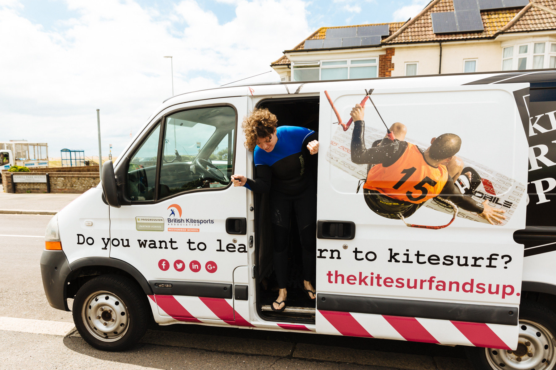 Christine had her van sign written by The Sussex Sign Company
