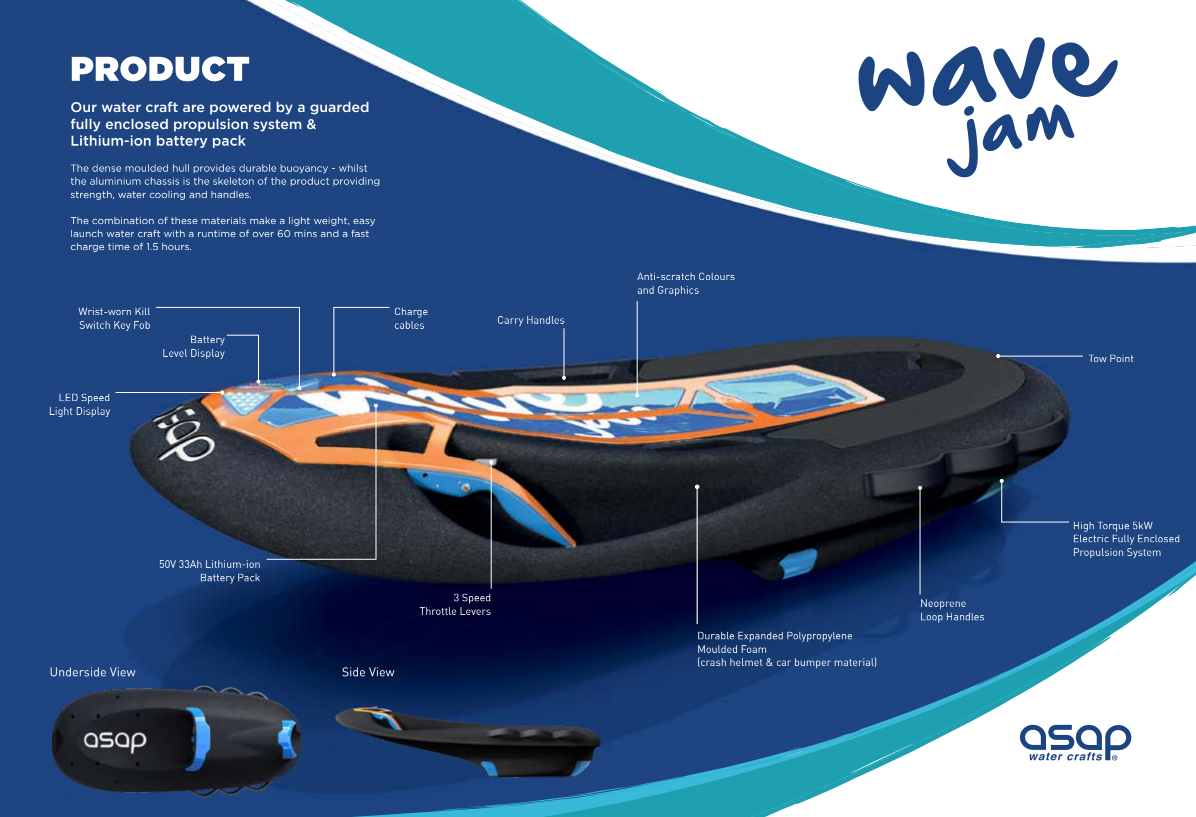 ASAP Water Craft Electric Jet Board Features