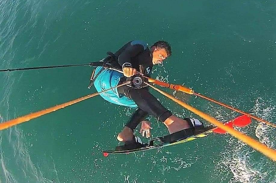 He is also a fantastic kitesurfer! Look at the height on this jump :)