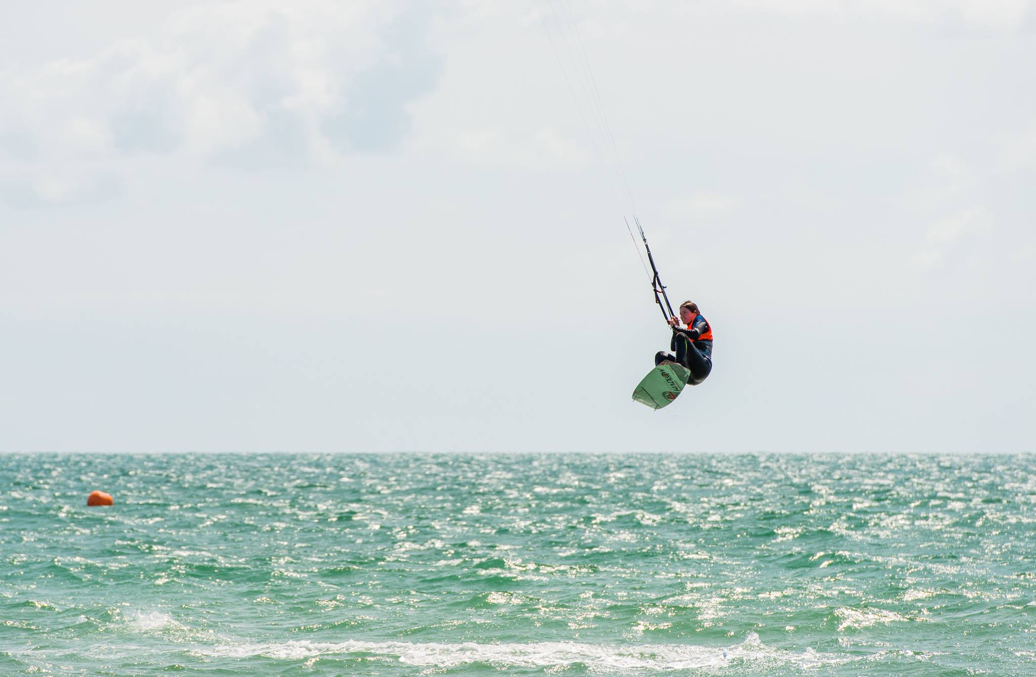 Christine Flying High in the Lancing Kitesurf Club Big Air Competition