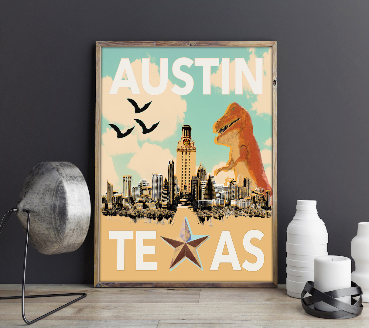Austin Travel Print