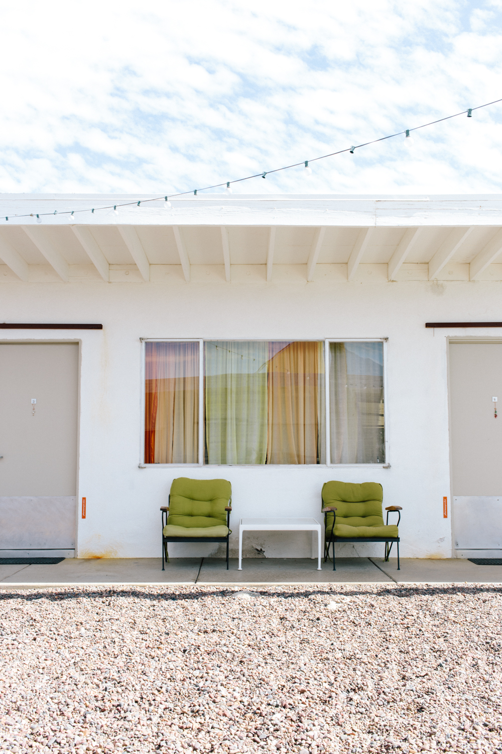Each room has a mini outdoor seating area.