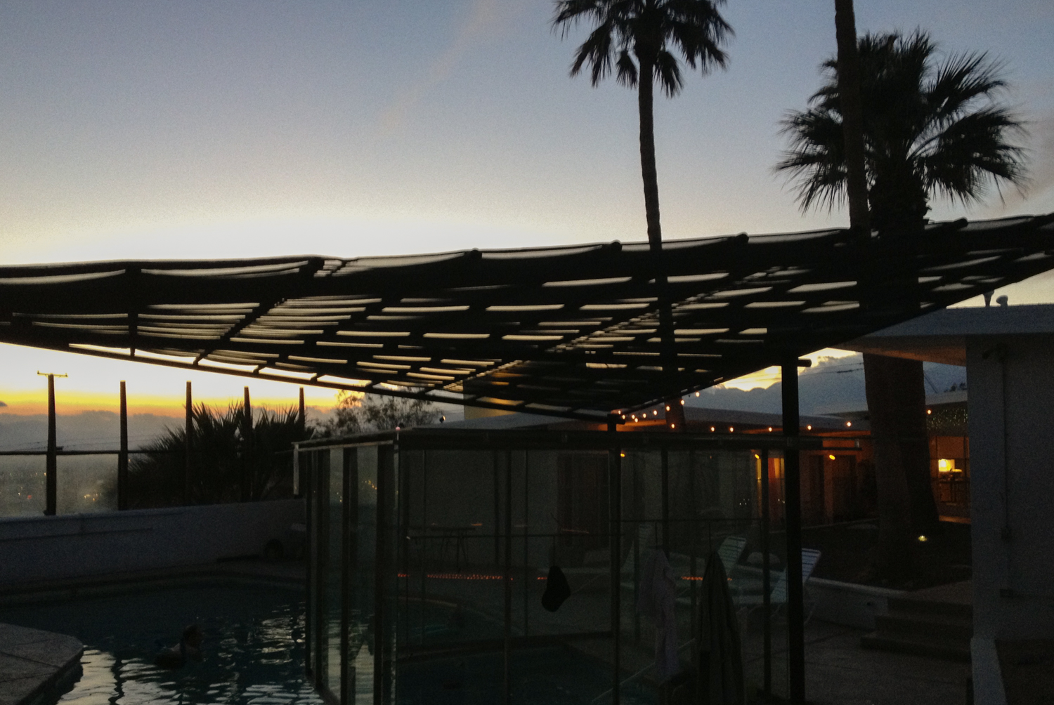 The pool is open 24/7 - there's nothing like a night time swim under the stars.
