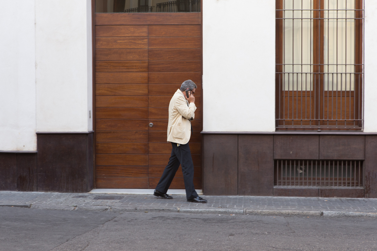 Spotted this gentleman's dapper style near Calle Gerona
