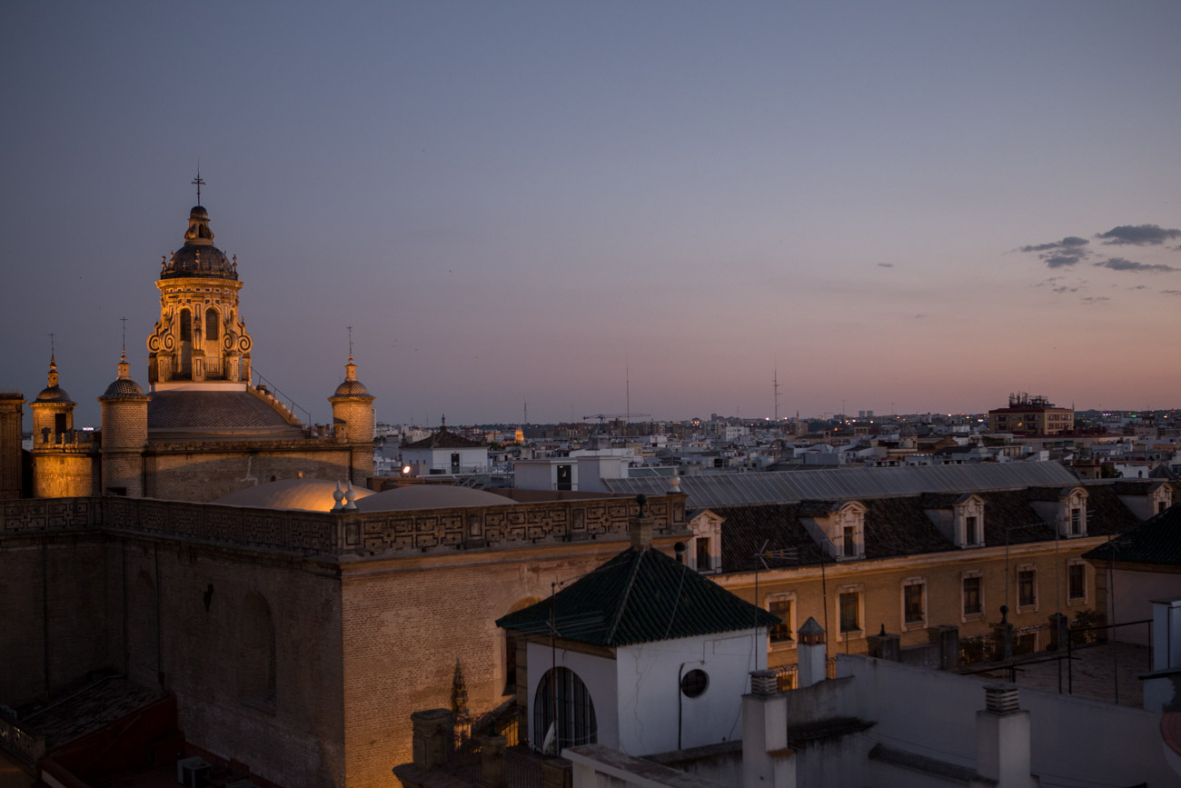 Views from the Metropol Parasol at La Encarnación square, in the old quarter of Seville