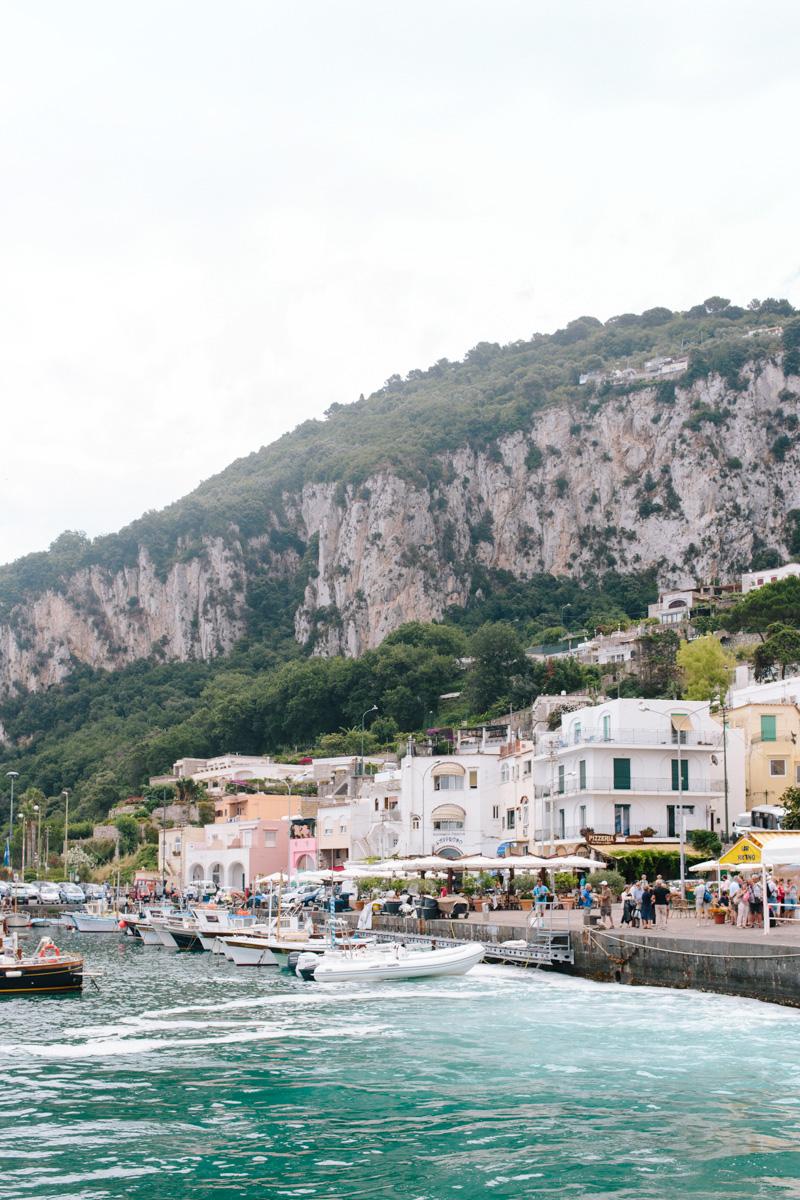 Arrival at the port of Capri