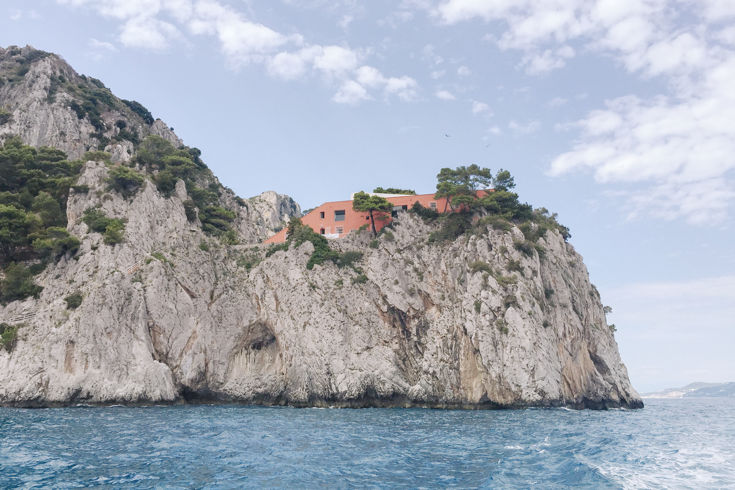 Views of Villa Malaparte, an architectural icon loved by design enthusiasts and film location for 1963's Contempt, starring Brigitte Bardot