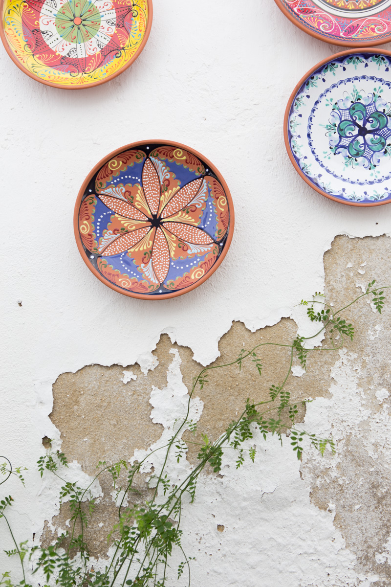 We purchased several of these beautiful bowls, hand painted on the inside, terra cotta on the outside