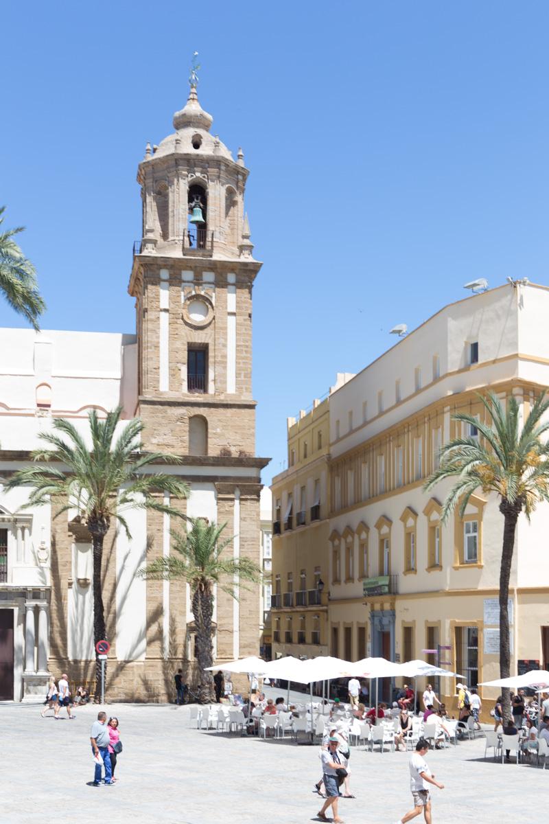 Plaza in Old Town Cadiz