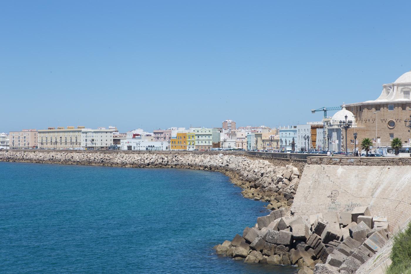 The picturesque coastline of Cadiz