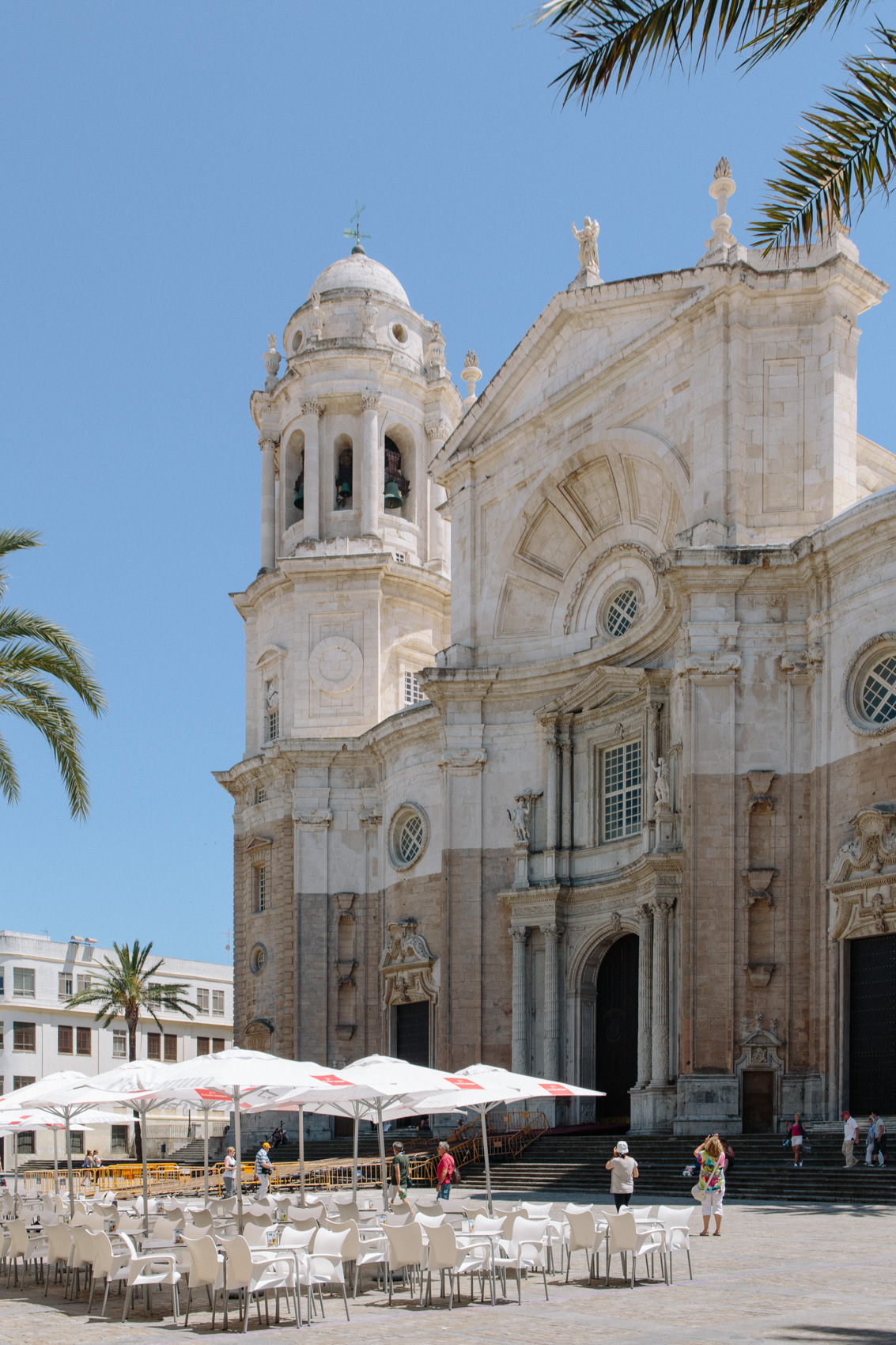 Cádiz Cathedral, a combination of baroque and neoclassicist elements