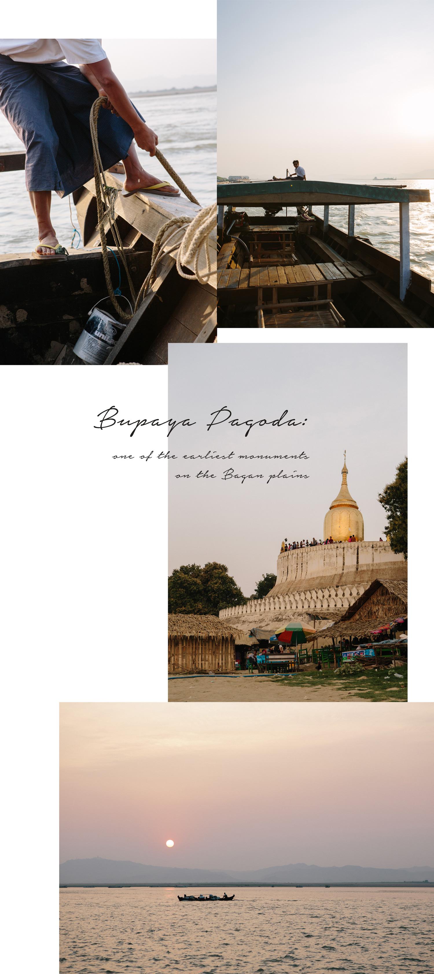 Bagan_sunset_river_cruise_Irrawaddy_boat_Bupaya-pagoda