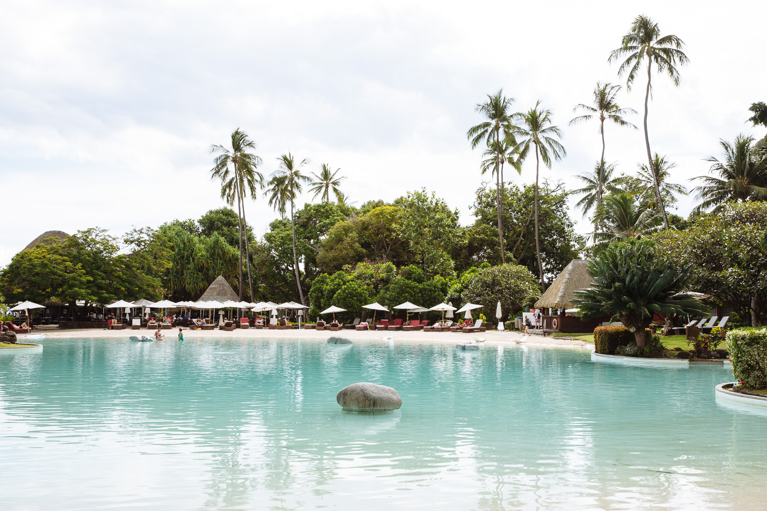 Poolside at Le Meridien Tahiti