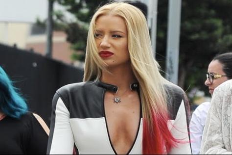 Iggy filming 'Black Widow' music video