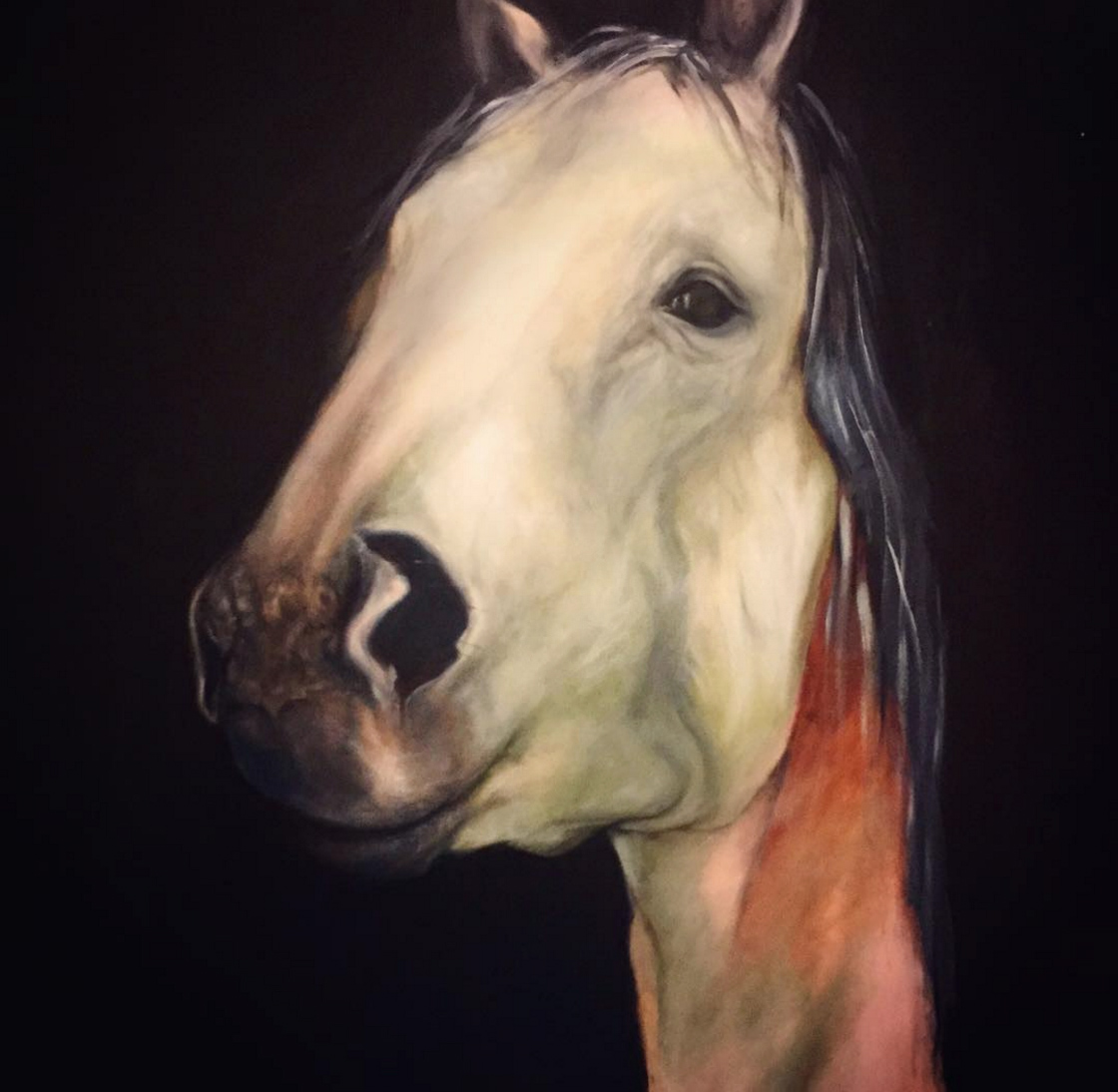 Horsey Swagger ; oil on canvas 100 x 150 cm