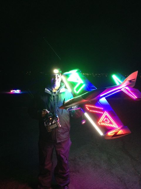 Kent Beal and his chilly Visionaire night flyer.
