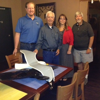 Club officers with special guest Bob Hoey. Left to Right: Mason Hutchison, Bob Hoey, Melissa Metz, & Bob Golk.