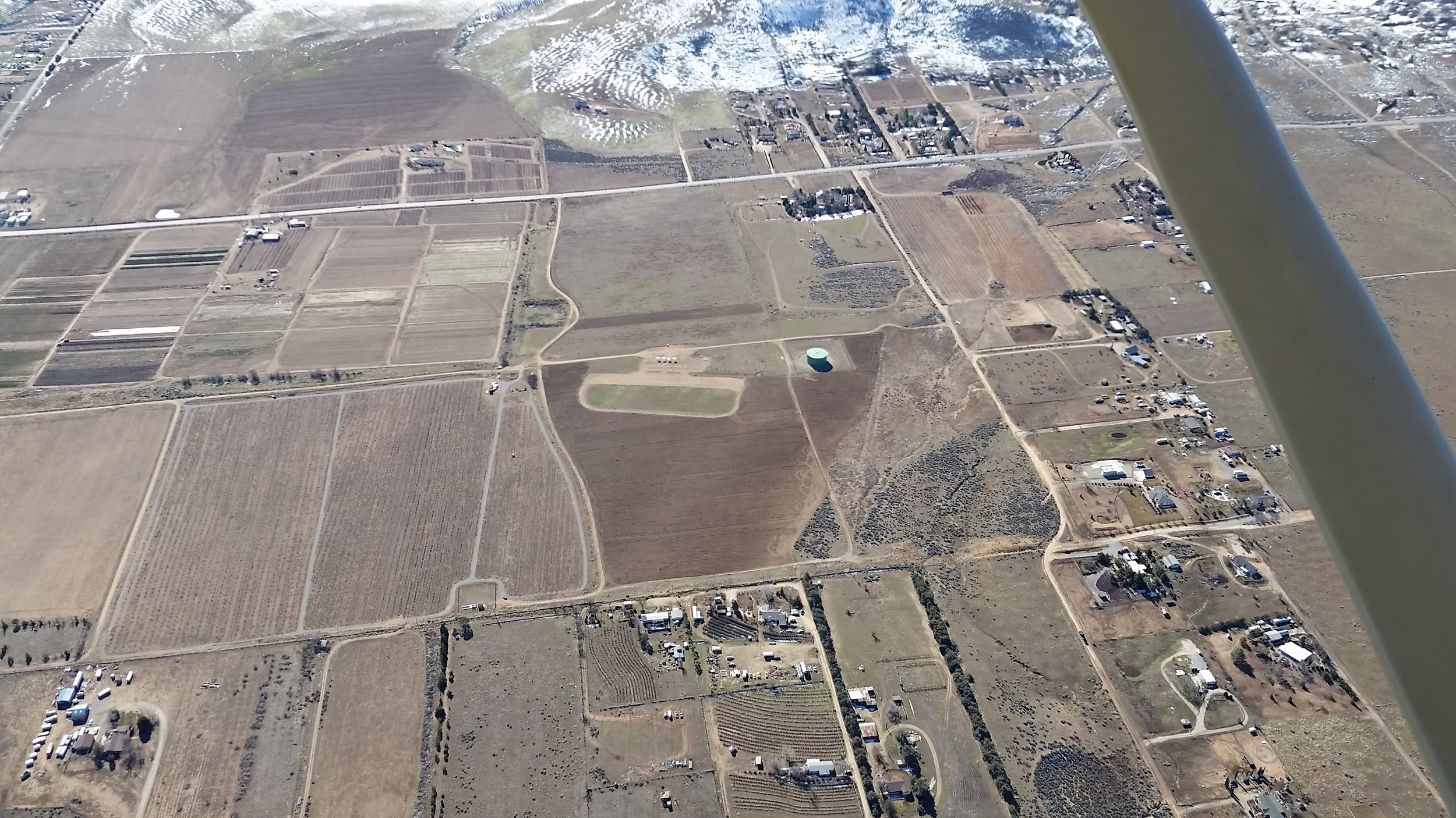 Flying field aerial shot January 18, 2017.