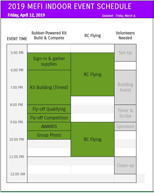 MEFI 2019 Indoor Event Schedule - Daily schedule.JPG