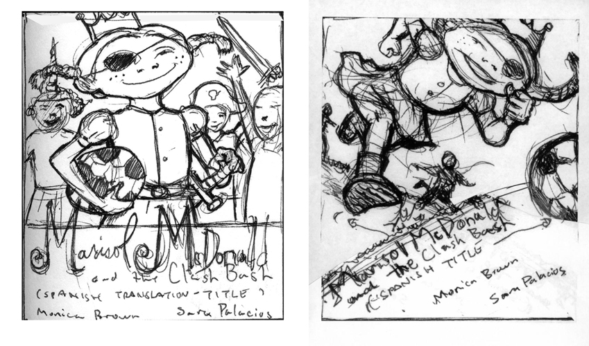art direction concept sketches for cover