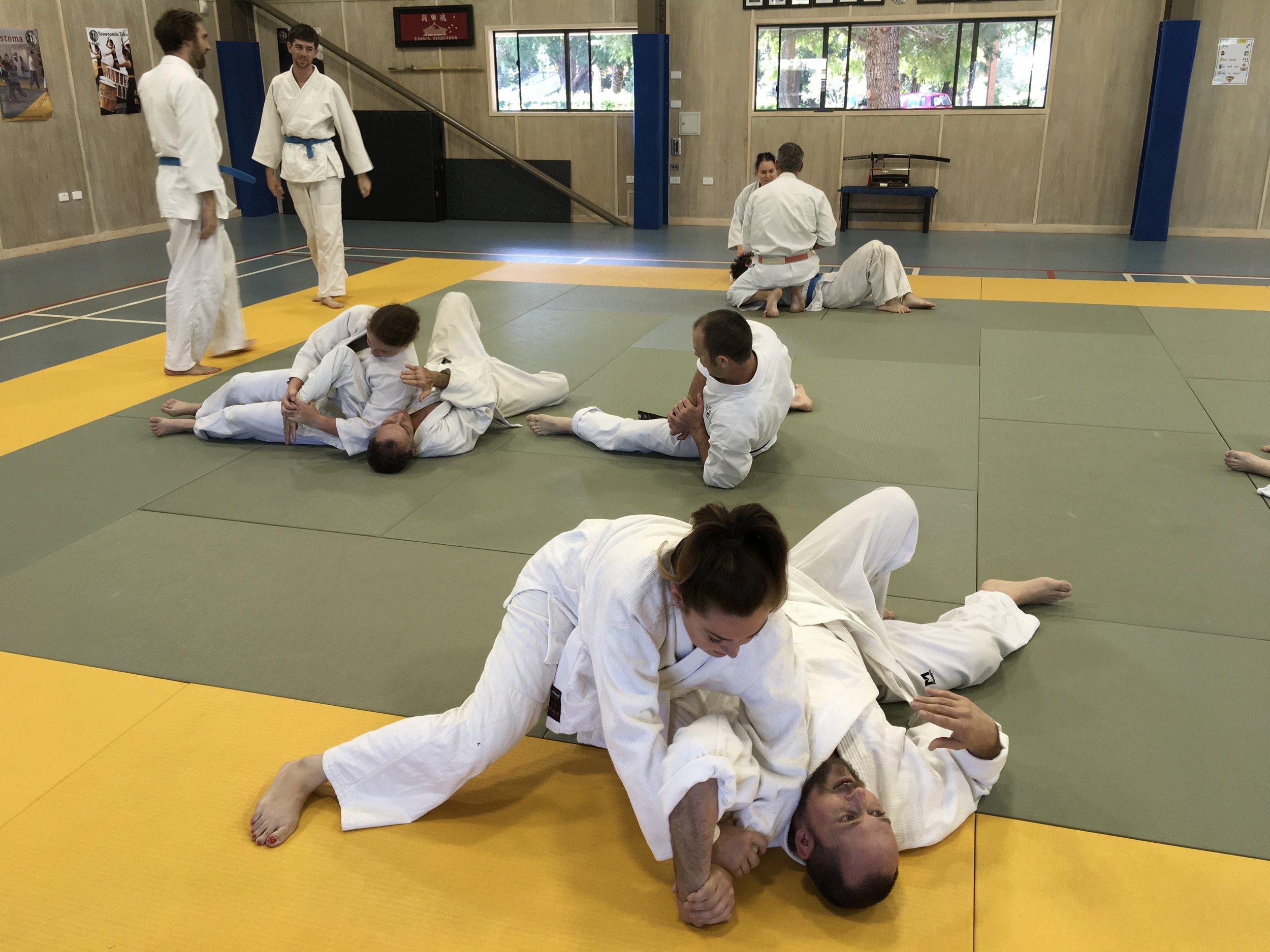 Kesa drill during the Jujutsu session