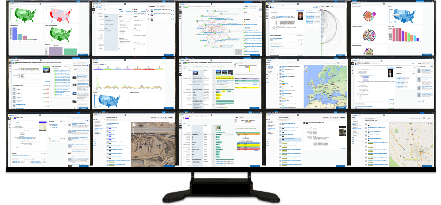 Plethora of modern data management and data-drive application screens