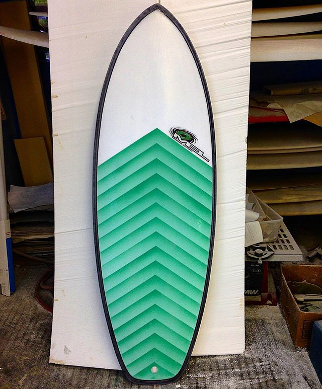 This little #Mongoose went out to our favorite ER Nurse. Fastest board we make for small mushy waves without a doubt, but doesn't mind some real surf either.  #melsurfboards