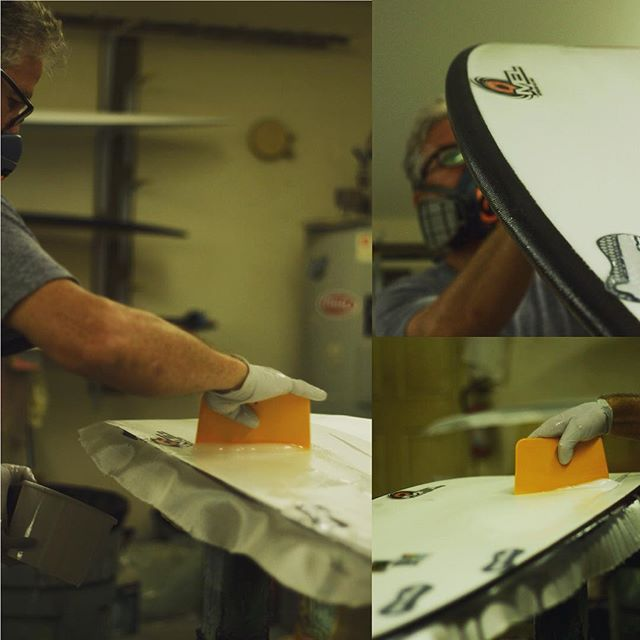 """Never seen Dave power through so many boards at one time. He says he's pretty much """"retired"""" and this is just all for the love of creating.  #melsurfboards"""