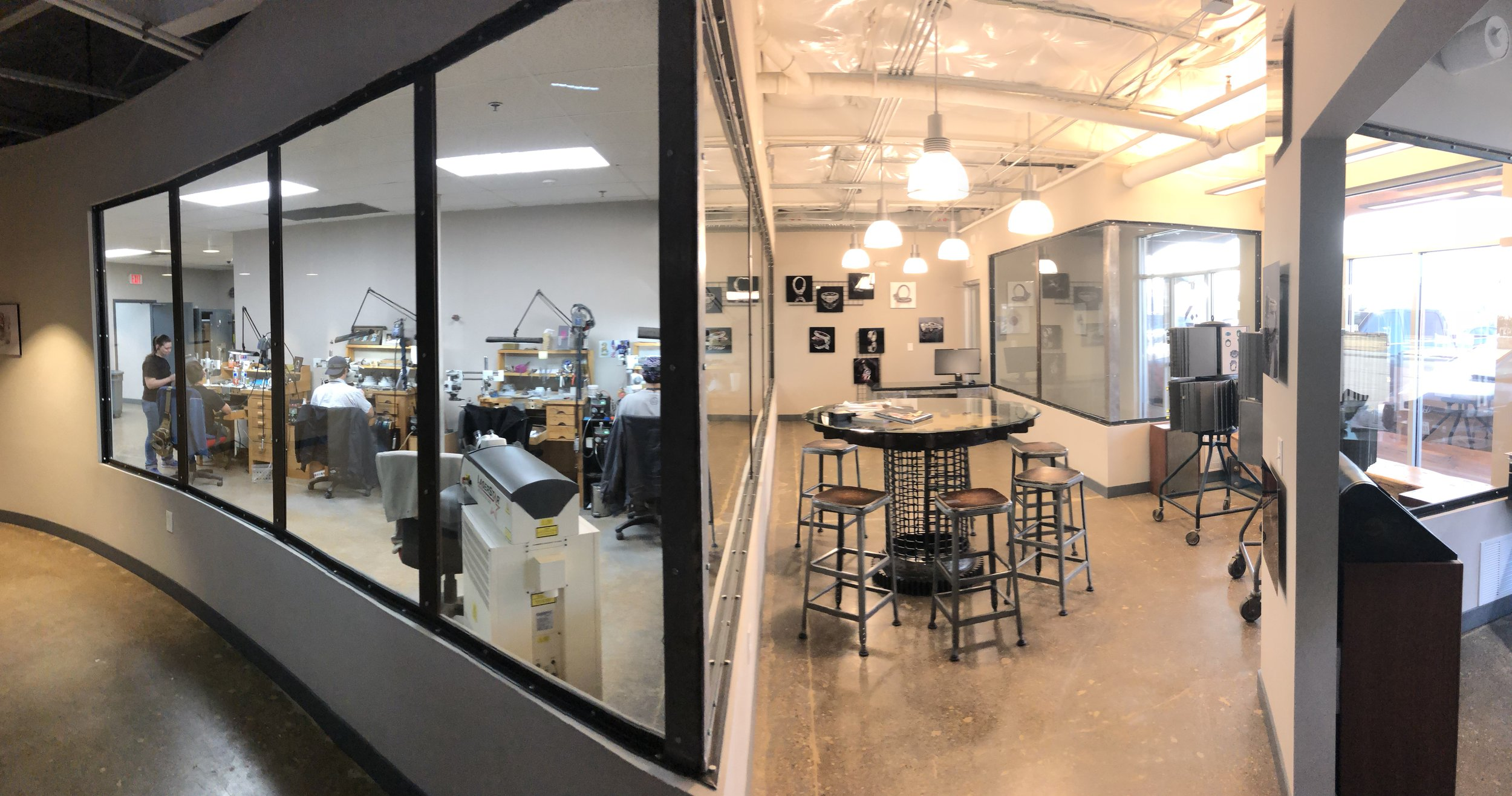 Virtual Tour - Click/tap the image to see a 360 degree view of our studio.