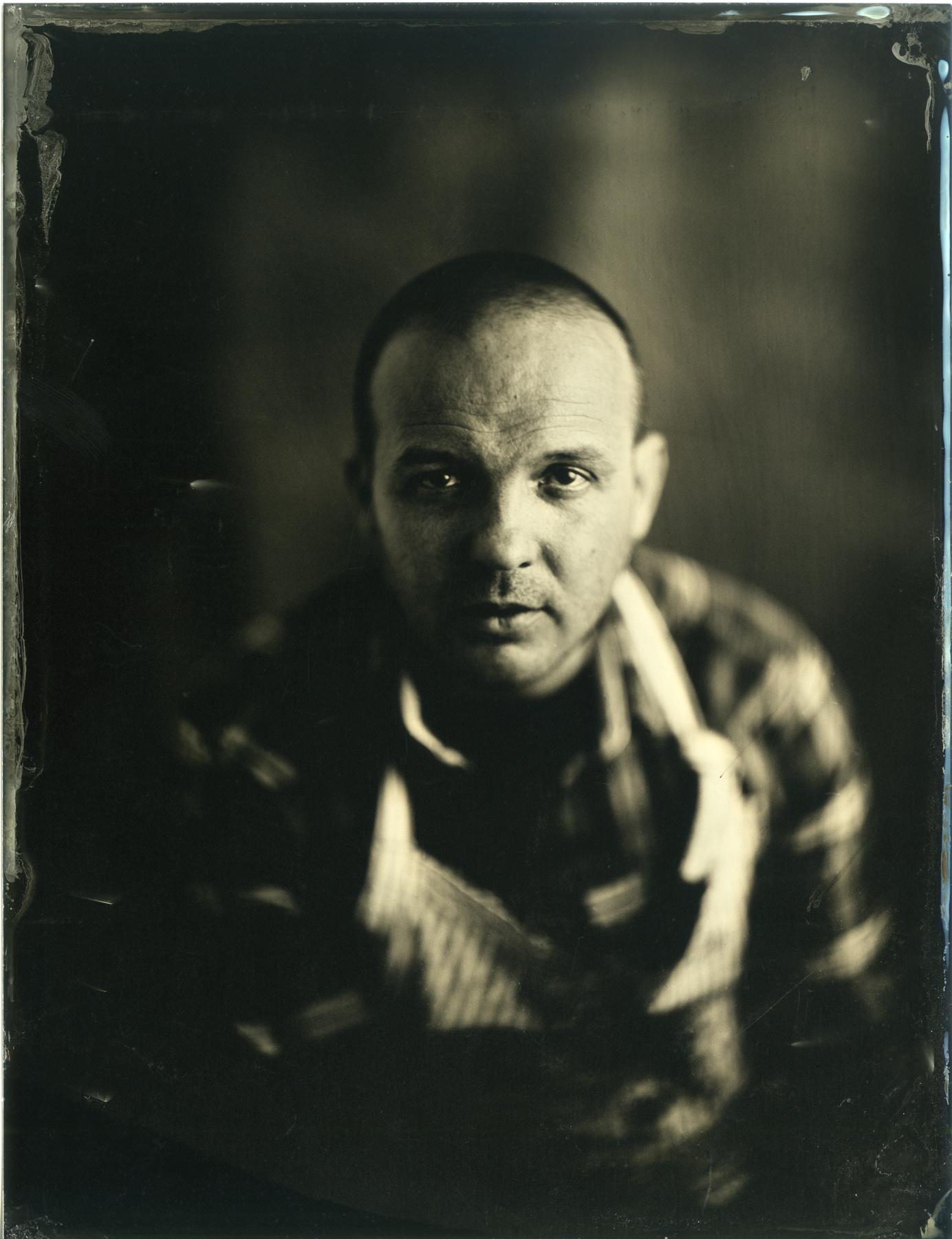 David Gillanders in his own Glasgow studio