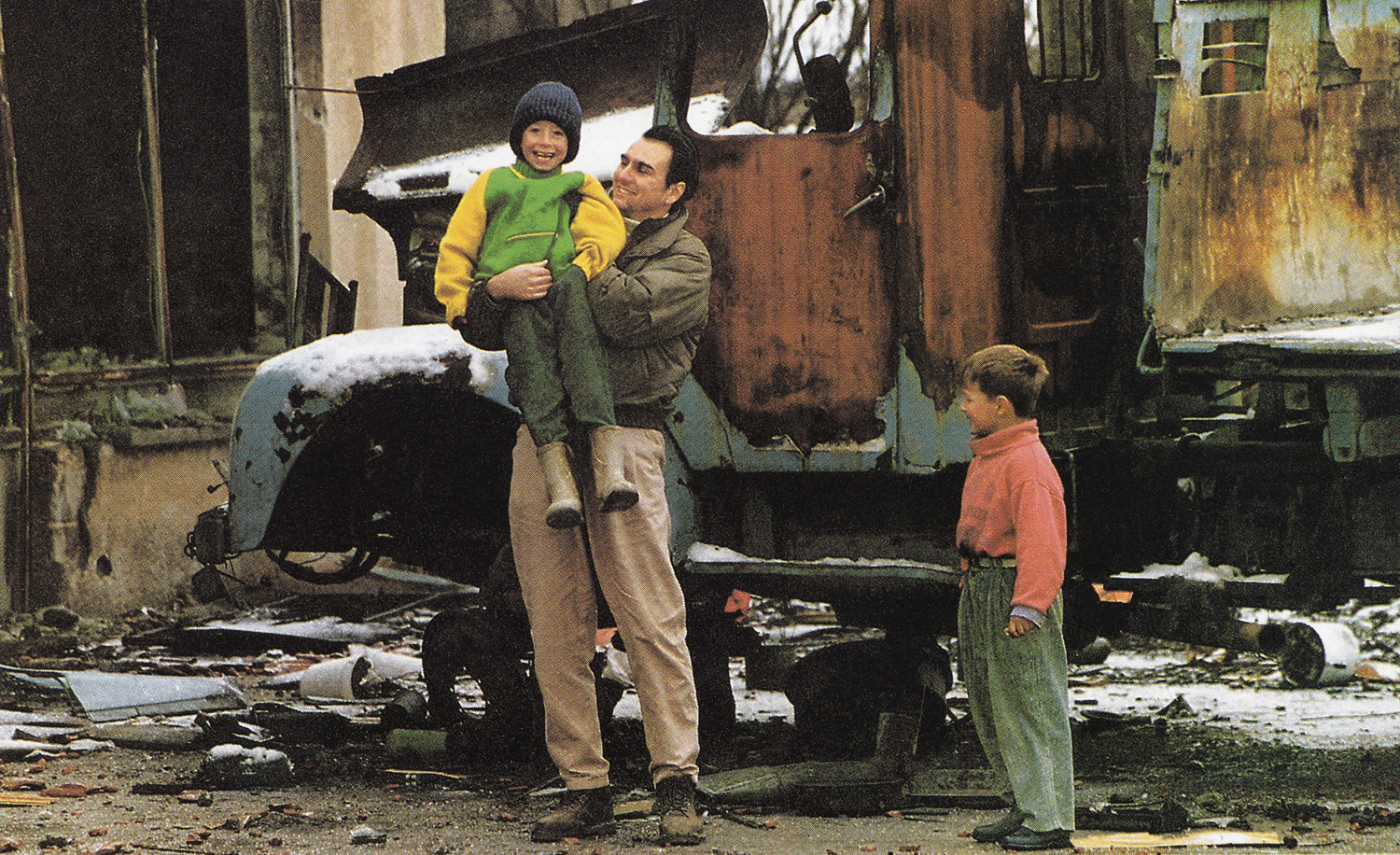 The biggest achievement of getting kids' smiles in the madness of the war. Central Bosnia.