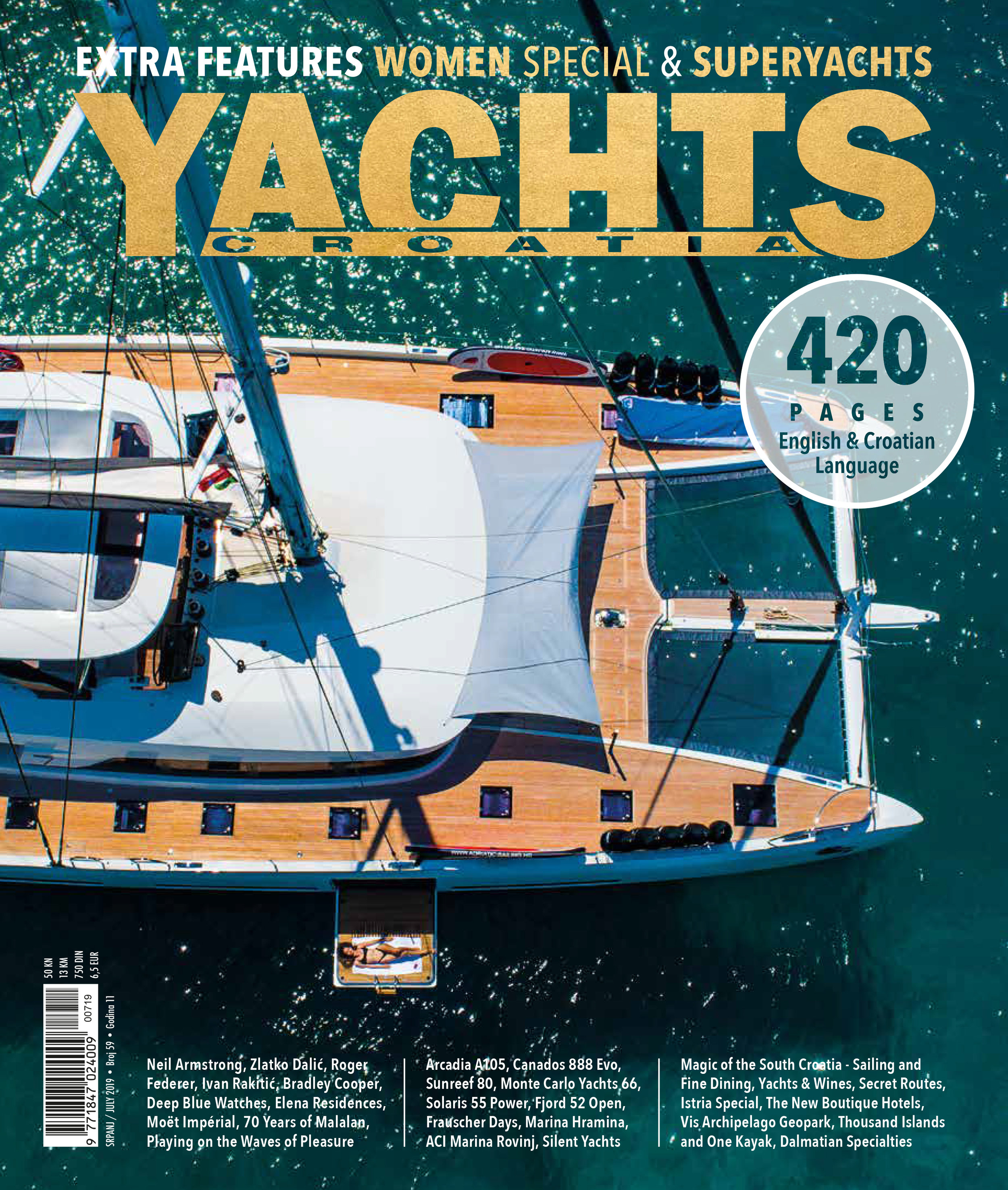 Photo shoot for the cover of Yacht Magazine