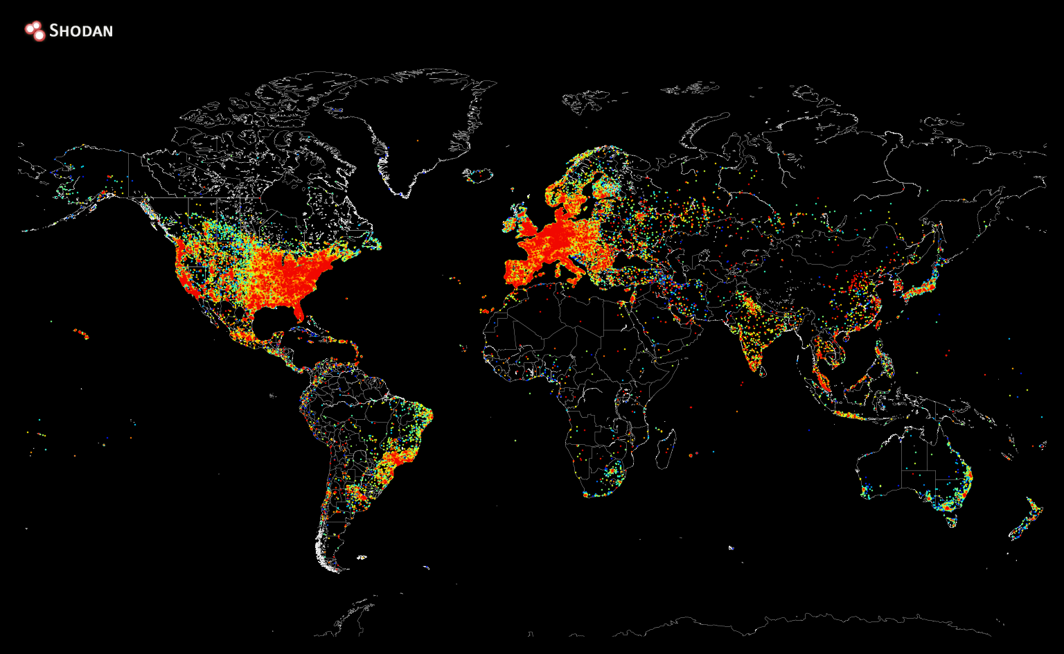 The location of every Internet connected device in the world.