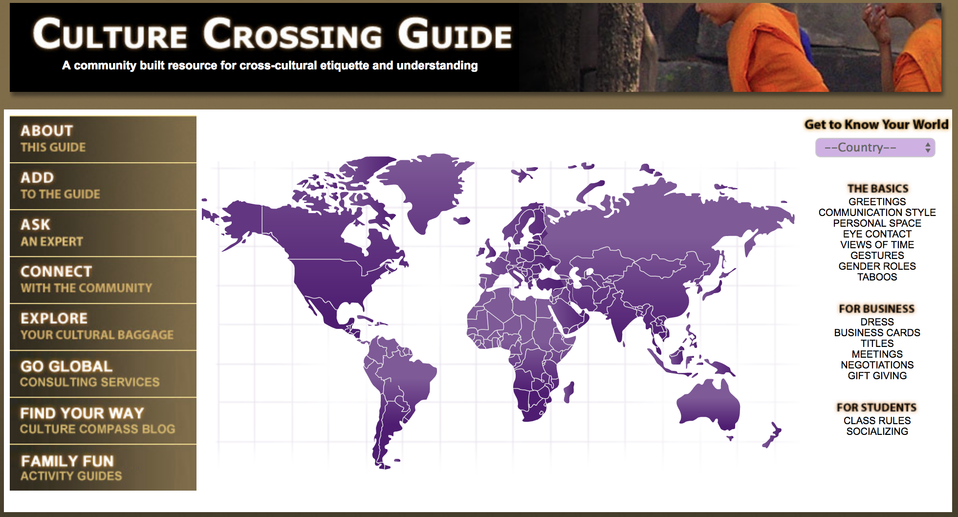 Access the resource above to find out about cultural understanding in your country